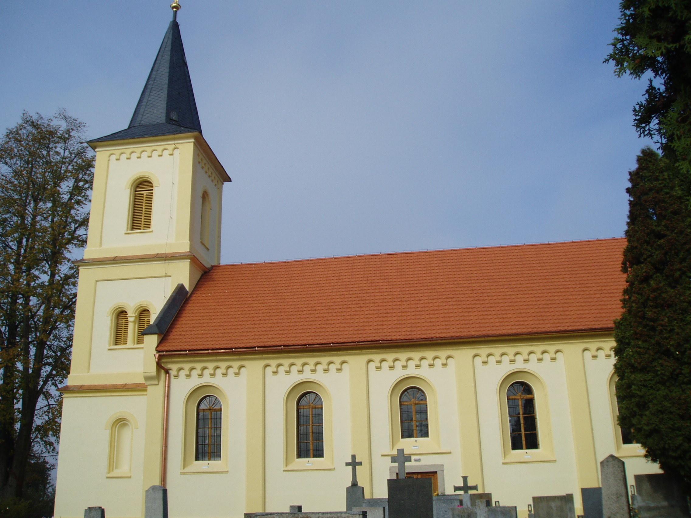 Rekonstrukce kostela v Dolních Jirčanech